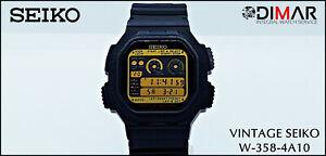 Vintage Seiko Digi Race Timer Calibre. W358. WR.15bar. 100 Lap Memory. AÑO.1991