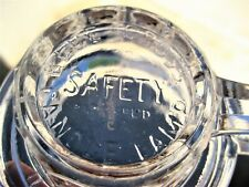 """Old glass """"Blue Cross Safety Candle Lamp Pat'D Apl'D For"""" candle holder"""