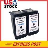 2 PG-245XL Black Remanufactured Ink Cartridge for Canon PIXMA MG2522  MG2520
