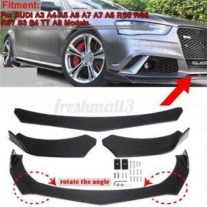 Carbon Fiber Look Car Front Bumper Lip For AUDI A3 A4 A6 RS5 RS6 RS7 S3 S4 TT