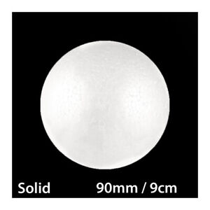 90mm / 9cm POLYSTYRENE SOLID ROUND STYROFOAM BALLS POLY CANDY SWEET TREE PARTY