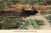 Postcard Blackhawk Springs Crapo Park Burlington Iowa