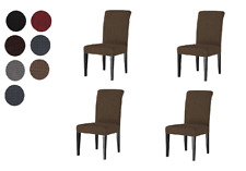 Luxury Stretch Cover Slipcover Seat Protector for Dining Room Kitchen Chair 4 pc