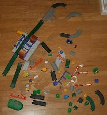 Fisher Price GeoTrax Train Track Accessories 81 pcs Signs Trees People Huge Lot