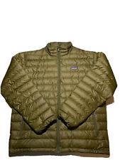 Patagonia mens down jacket puffer green size large