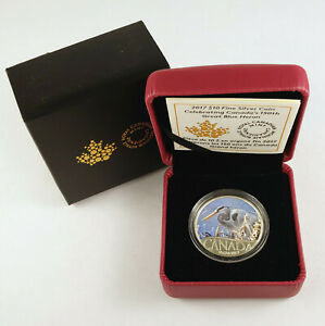 2017 $10 Celebrating Canada's 150th GREAT BLUE HERON Fine silver coin
