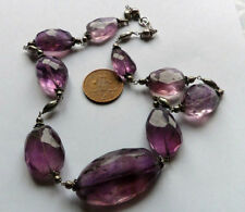 Necklace Amethyst Silver Art Deco Fine Jewellery