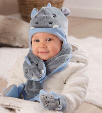 Sterntaler Jungen Babymütze Mütze  Wintermütze  Schal Handschuh Dreieckstuch