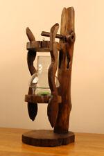 Kerzenständer Holz Massivholz Windlicht Laterne mit Glas Teelicht Halter Ständer