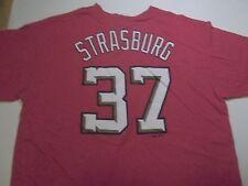 WASHINGTON NATIONALS STEPHEN STRASBURG #37 JERSEY STYLE T-SHIRT-LARGE RARE