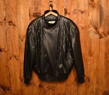 CLAUDE MONTANA LUXURY QUILTED CUIR ANTIQUE LEATHER MOTORCYCLE RIDER JACKET 44-XL