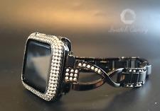 Apple Watch Band 42mm S 1 Black Rhinestone Case Cover Bezel Lab Diamonds