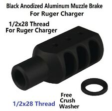 New! Ruger's 22 Charger Competition Muzzle Brake Suppressor 1/2x28 TPI US Seller