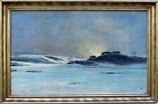 André Paul LEROUX, Paysage de neige, Fécamp, Normandie, dessin, peinture, art