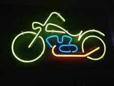 "Motorcycle Bike Neon Light Sign 17""x14"" Lamp Beer Bar Pub Glass Decor Display"
