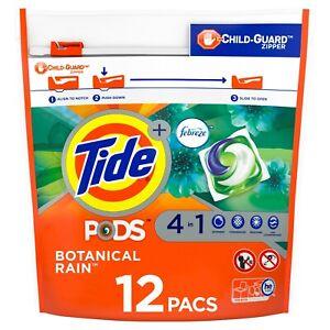 Tide Pods Plus Febreze Botanical Rain, 12 Ct Laundry Detergent Pacs WORLD SHIP