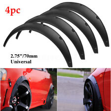 """4x 2.75""""/70mm Universal Flexible Car Fender Flares Extra Wide Body Wheel Arches"""
