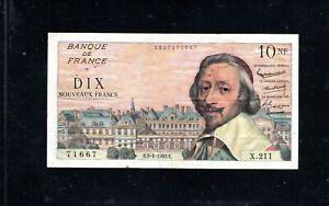 Billet 10 Nouveaux Francs Richelieu 05/04/62 TTB Fay 57-18