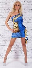 Women's Party Evening Clubbing one shoulder mini Dress One Size fits UK 8/10