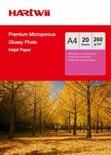 A4 Premium Microporous Photo Paper 100% Waterproof RC High Gloss 260Gsm -20sheet