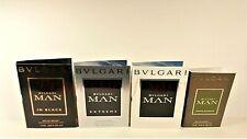 Bvlgari Man in Black, Man Wood Essence,Man, Man Extreme Sample Vials Set of 4