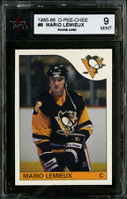 1985-86~O-PEE-CHEE HOCKEY CARD~#9~MARIO LEMIEUX~HALL OF FAME ROOKIE~KSA 9 MINT
