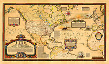 "Overland and Overseas Flights of Charles A. Lindbergh 39.4"" x 23.2"" Map Print"