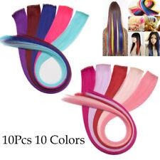 High Quality High Light Clip in Hair Extensions Purple Blue 10pcs as Human Hair