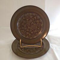 Set of 2 Vintage Franciscan Madeira Earthenware Bread/Dessert Plate Brown