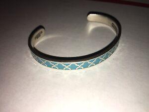 Alex And Ani Silvertone/Enamel Cuff Inspirational Bracelet Stamped Inside