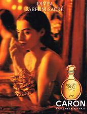 PUBLICITE ADVERTISING 084  1992  PARFUM SACRE de CARON