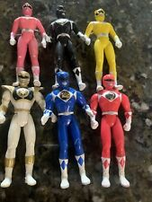 LOT 6 mighty morphon power rangers action figures vintage Morphin