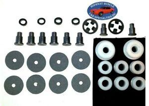 62-65 Chrysler Rear Quarter Window Crank Regulator Arm Roller Both Sides NEW EX