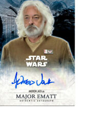 New Listing2016 Star Wars The Force Awakens Series 2 Andrew Jack Autograph Card Mint