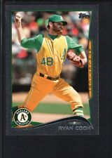 RYAN COOK 2014 TOPPS MINI #243 BLACK PARALLEL ATHLETICS SP #2/5