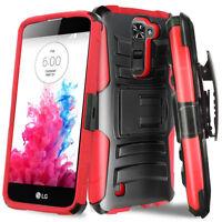 For LG K20 Plus/K20 V/Harmony Hybrid Armor BeltClip Holster Kickstand Cover Case