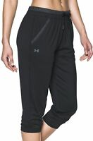 Under Armour Womens Crop Pants 3/4 Capri Joggers Gym Running Sports Training UA