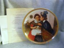 Knowles / Bradford Exchange / Gossiping In The Alcove By Norman Rockwell Plate