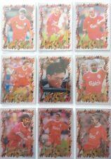 Liverpool Futera 1999 Fans Selection Chrome Hot Shots Set 9 cards.