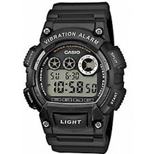 Casio W-735h-1avef Black Gents Mens Resin 100m Water Resistant Digital Watch