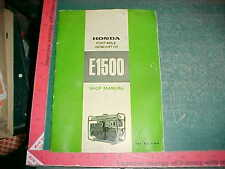 1969 HONDA E1500 PORTABLE GENERATOR SHOP MANUAL vg