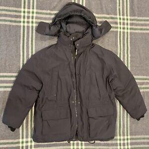 Eddie Bauer Waterproof Goose Down Gore-tex Mens Puffer Jacket Black XL-XXL VGC