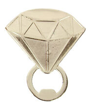 Diamond Ring Bottle Opener Zinc Gold Tone Gift Boxed New Wedding Engagement