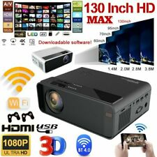 Wireless LED Projector Android 6.0 Bluetooth WiFi 1080P 4K 3D Smart Home Theater