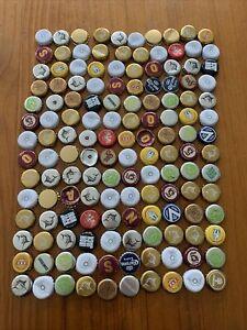 140 Assorted Bottle Caps, Beer, Spirits, Cider Collectables, Art Or Craft Bulk