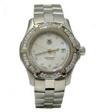 LADIES STAINLESS STEEL TAG HEUER PROFESSIONAL MOP DIAMOND DIAL WATCH 29MM WN131J