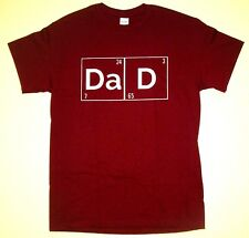 Dad 24-7 365 T-Shirt, Men's Size LARGE Burgundy Cotton Father All Day & Year NEW