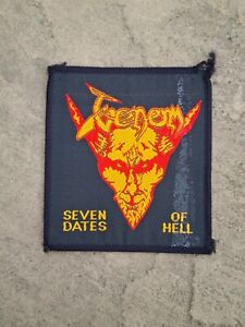 VENOM seven dates of hell patch RARE official vintage 80s