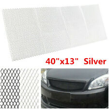 "40""x13"" Silver Aluminum Car Racing Vehicle Body Grille Net Mesh Grill Section"