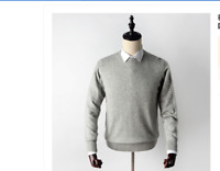 New Men's Crewneck  V-neck Pullovers Sweater 100% Mink Cashmere Sweaters
